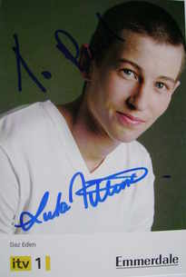 Luke Tittensor autograph (ex Emmerdale actor)