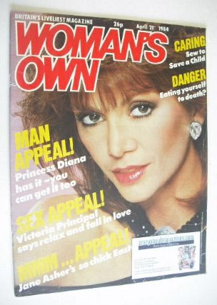 <!--1984-04-21-->Woman's Own magazine - 21 April 1984 - Victoria Principal