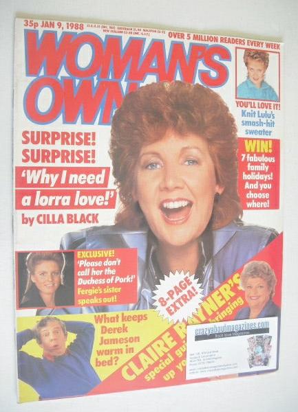 <!--1988-01-09-->Woman's Own magazine - 9 January 1988 - Cilla Black cover