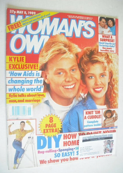 <!--1989-05-08-->Woman's Own magazine - 8 May 1989 - Jason Donovan and Kyli
