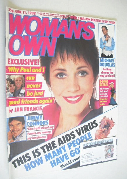 <!--1988-06-11-->Woman's Own magazine - 11 June 1988 - Jan Francis cover