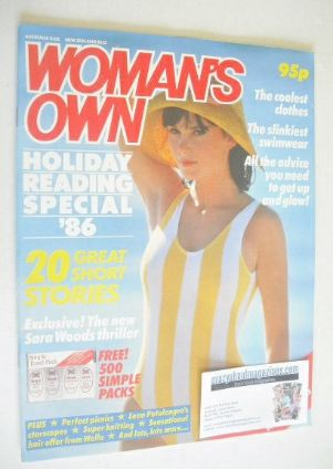 <!--1986-08-->Woman's Own magazine - Summer 1986 Holiday Reading Special Is
