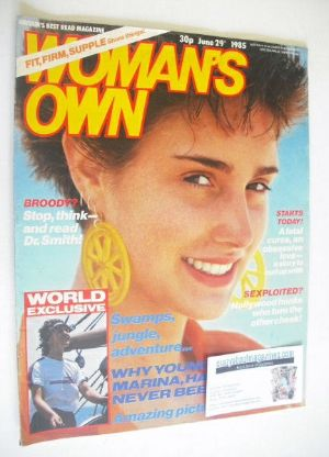 <!--1985-06-29-->Woman's Own magazine - 29 June 1985