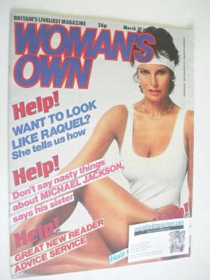 <!--1984-03-31-->Woman's Own magazine - 31 March 1984 - Raquel Welch cover
