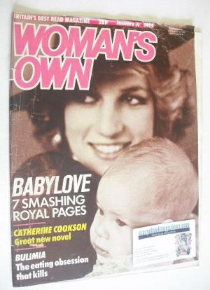 <!--1985-01-19-->Woman's Own magazine - 19 January 1985 - Princess Diana co