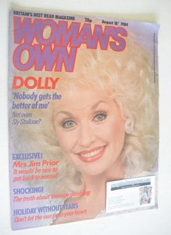 <!--1984-08-18-->Woman's Own magazine - 18 August 1984 - Dolly Parton cover