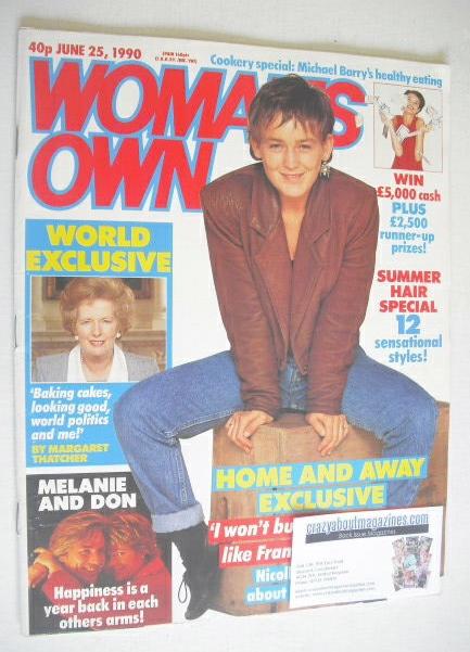 <!--1990-06-25-->Woman's Own magazine - 25 June 1990 - Nicolle Dickson cove
