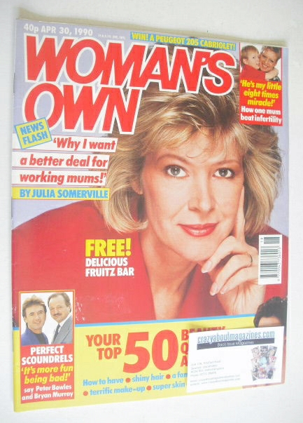 <!--1990-04-30-->Woman's Own magazine - 30 April 1990 - Julia Somerville co
