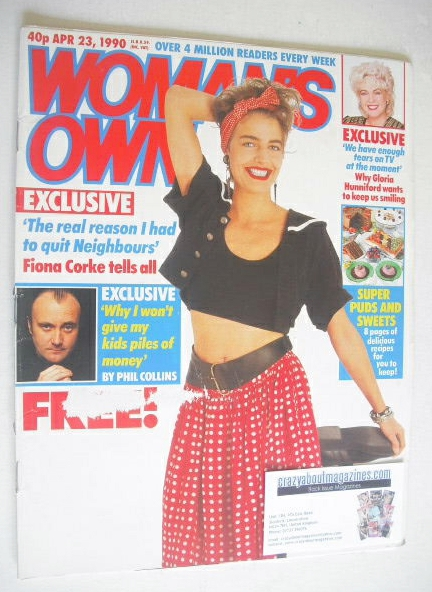 <!--1990-04-23-->Woman's Own magazine - 23 April 1990 - Fiona Corke cover