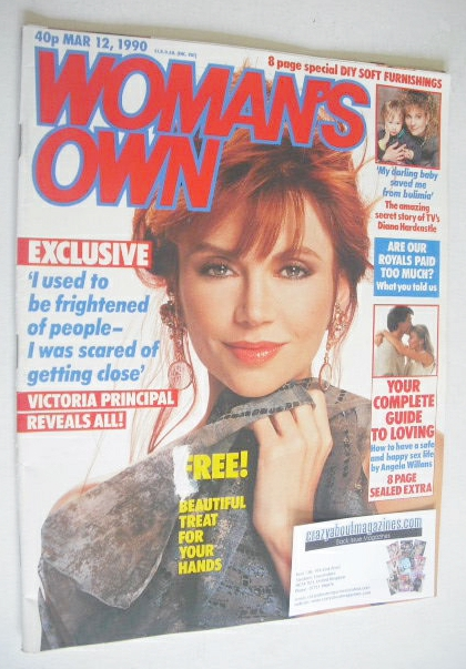 <!--1990-03-12-->Woman's Own magazine - 12 March 1990 - Victoria Principal