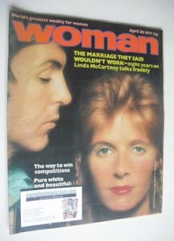Woman magazine - Paul McCartney and Linda McCartney cover (30 April 1977)