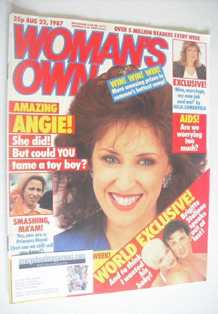 <!--1987-08-22-->Woman's Own magazine - 22 August 1987 - Anita Dobson cover