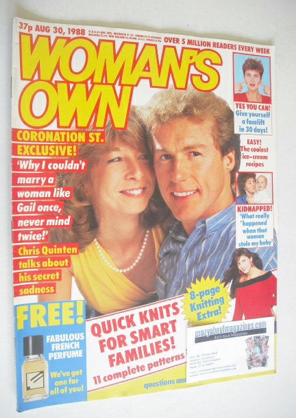 <!--1988-08-30-->Woman's Own magazine - 30 August 1988 - Chris Quinten and