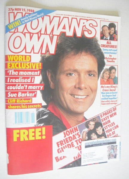 <!--1988-11-15-->Woman's Own magazine - 15 November 1988 - Cliff Richard co