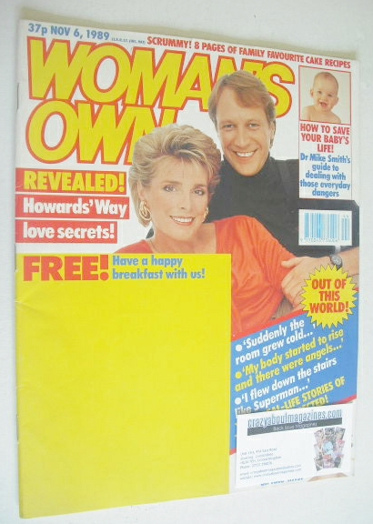 <!--1989-11-06-->Woman's Own magazine - 6 November 1989 - Jan Harvey cover