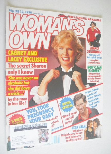 <!--1990-02-12-->Woman's Own magazine - 12 February 1990 - Sharon Gless cov