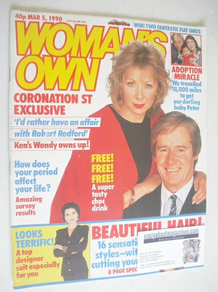 <!--1990-03-05-->Woman's Own magazine - 5 March 1990 - Roberta Kerr and Wil