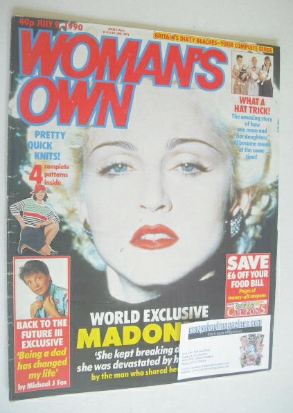 <!--1990-07-09-->Woman's Own magazine - 9 July 1990 - Madonna cover