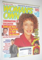 <!--1990-08-13-->Woman's Own magazine - 13 August 1990 - Anne Kirkbride cover