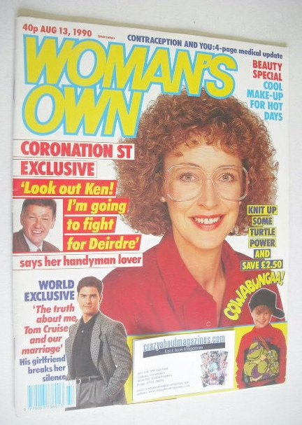 <!--1990-08-13-->Woman's Own magazine - 13 August 1990 - Anne Kirkbride cov