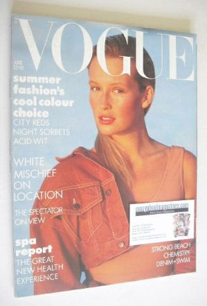 <!--1987-06-->British Vogue magazine - June 1987 - Estelle Lefebure cover
