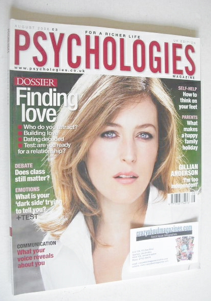 <!--2006-08-->Psychologies magazine - August 2006 - Gillian Anderson cover