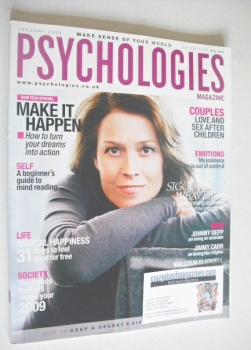 Psychologies magazine - January 2009 - Sigourney Weaver cover