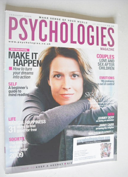 <!--2009-01-->Psychologies magazine - January 2009 - Sigourney Weaver cover