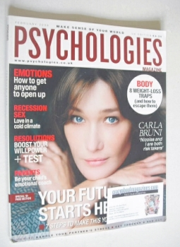 Psychologies magazine - February 2009 - Carla Bruni cover
