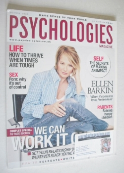 Psychologies magazine - March 2009 - Ellen Barkin cover