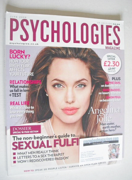 <!--2009-06-->Psychologies magazine - June 2009 - Angelina Jolie cover