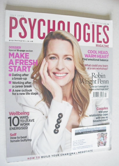 <!--2009-07-->Psychologies magazine - July 2009 - Robin Wright Penn cover
