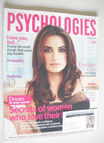 <!--2009-08-->Psychologies magazine - August 2009 - Penelope Cruz cover