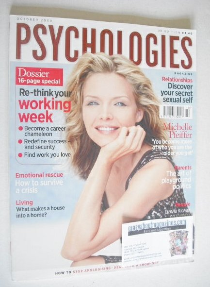 <!--2009-10-->Psychologies magazine - October 2009 - Michelle Pfeiffer cove