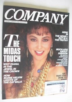 Company magazine - November 1985 - Marie Helvin cover