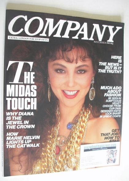 <!--1985-11-->Company magazine - November 1985 - Marie Helvin cover