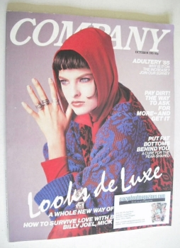Company magazine - October 1985 - Linda Evangelista cover