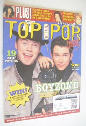 <!--1996-01-->Top Of The Pops magazine - Ronan Keating and Stephen Gately c