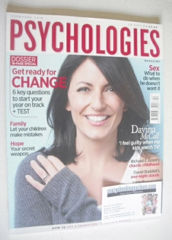 Psychologies magazine - February 2010 - Davina McCall cover
