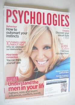 Psychologies magazine - March 2010 - Toni Collette cover