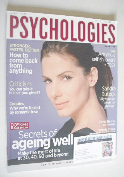 <!--2010-04-->Psychologies magazine - April 2010 - Sandra Bullock cover