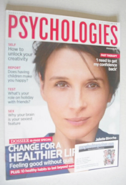 <!--2010-08-->Psychologies magazine - August 2010 - Juliette Binoche cover