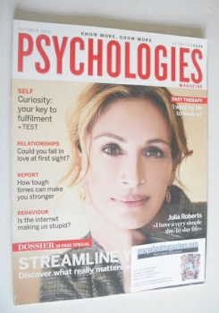 Psychologies magazine - October 2010 - Julia Roberts cover