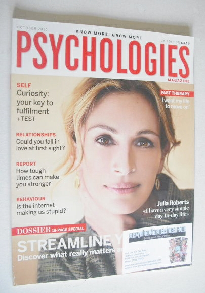 <!--2010-10-->Psychologies magazine - October 2010 - Julia Roberts cover