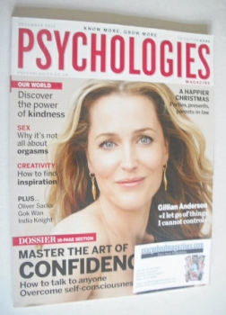Psychologies magazine - December 2010 - Gillian Anderson cover