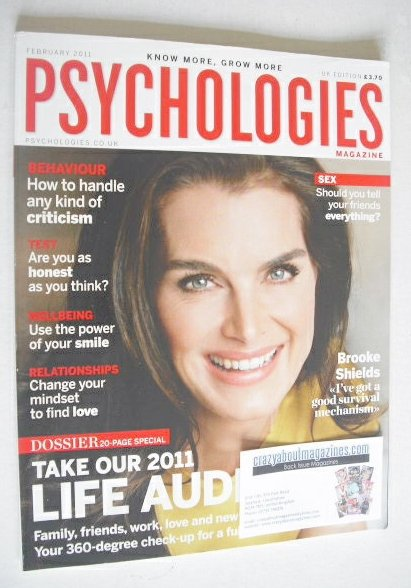 <!--2011-02-->Psychologies magazine - February 2011 - Brooke Shields cover