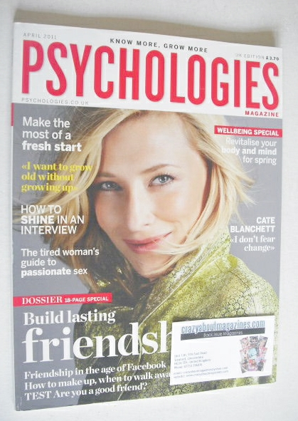 <!--2011-04-->Psychologies magazine - April 2011 - Cate Blanchett cover