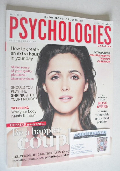 <!--2011-07-->Psychologies magazine - July 2011 - Rose Byrne cover