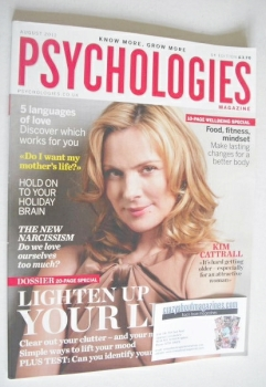 Psychologies magazine - August 2011 - Kim Cattrall cover