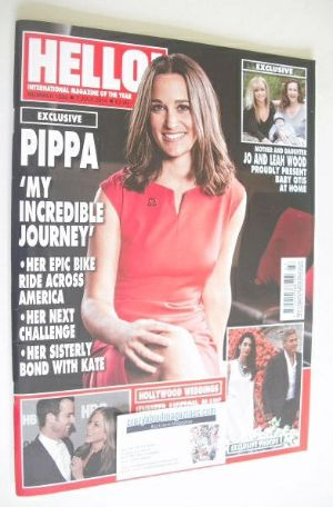<!--2014-07-07-->Hello! magazine - Pippa Middleton cover (7 July 2014 - Iss